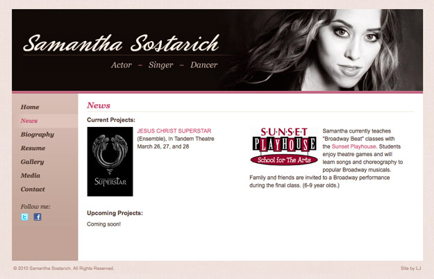 Samantha Sostarich website