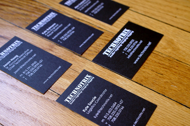 Technotrix business cards
